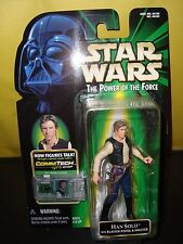 Star Wars Han Solo with Blaster Pistol Holster Action Figure w/Comm Tech Chip