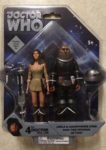 "Doctor Who Leela & Sontaran Commander Stor 5"" Action Figure Set NEW SEALED 4th"