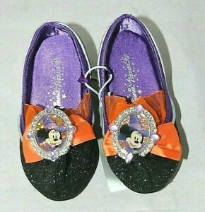 GIRL SIZE 5-6 MINNIE MOUSE WITCH COSTUME SHOES  DISNEY STORE NWT