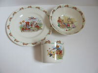 Royal Doulton Bone China Bunnykins- Child's Set of 3 - Plate, Cereal Bowl & Mug
