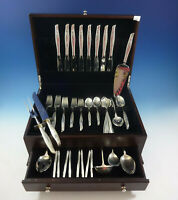 Sea Rose by Gorham Sterling Silver Flatware Set For 8 Service 63 Pieces