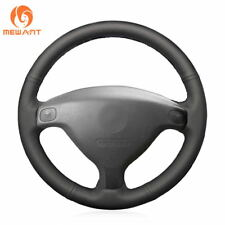 Black Leather Steering Cover for Buick Sail Opel Astra G H 1998-2007 Old ZafirA