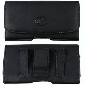 For Cell Phones Leather Belt Clip Holster Fits w/ Lifeproof case on it
