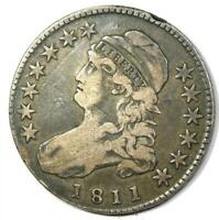 1811 Capped Bust Half Dollar 50C - VF Details - Rare Date Coin!