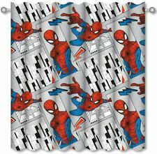"MARVEL SPIDERMAN FLIGHT GREY 66"" x 72"" READY MADE PENCIL PLEAT CURTAINS"