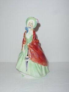 "Scarce Royal Doulton Figurine ""Paisley Shawl"" HN1914 - Rare Green Dress"