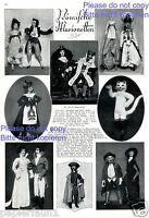 Römische Marionetten 8 Fotoabbildungen von 1925 Rom Puppentheater puppets -