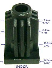 """Oajen caster socket insert for socket stem, use with 13/16"""" OD tube, 4 pack"""