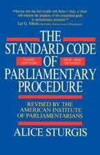 The Standard Code of Parliamentary Procedure (3rd Edition, Revised) by Sturgi...