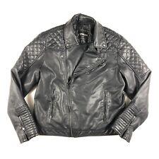 Express Moto Jacket Black Faux Leather Men Size Large