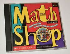 Math Shop Deluxe Scholastic [CD ROM 1998] Complete