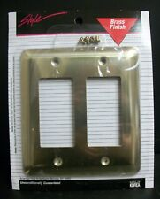 New Style Brass Finish Double Toggle Switch Wall Plate