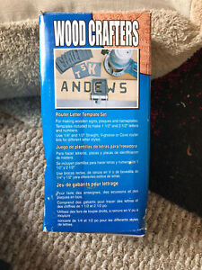 Wood Crafters Router Letter Template Kit BNIB