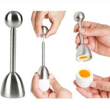 1pc Stainless Steel Raw Egg Shell Topper Cracker Cutter Opener Egg Knocker Tool
