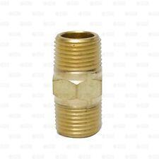 """Brass Pipe Nipple 3/8"""" Male NPT X 3/8"""" Male NPT Fitting Fuel Oil Gas Water"""