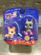 LITTLEST PET SHOP PET PAIRS CORGI GREAT DANE ROLLER SKATES 183 184 NEW 2006