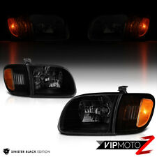 2000-2004 Toyota Tundra [Sinister Black] Headlights Signal Lamps Left Right Set