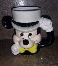 Rare Vintage Disney Mickey Mouse Wearing Top Hat Mug made in Japan Ceramic