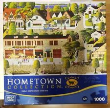 Pre-owned Mega Brands Hometown Carmel Firehouses 1000 Piece Jigsaw Puzzle