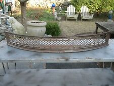 """Vintage Iron Victorian Style 45"""" Wide Fireplace Fender W Ash Tray 6 1/8"""" T"""