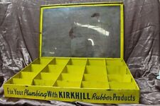 1950s Kirkhill Rubber Products Store Display Case Parts Cabinet 19 X 12