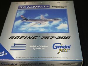 Gemini Jets 1:400 US Airways 757-200 Old Colors Excellent Condition in Box
