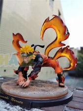 "Action Figure Statue Toy Anime Uzumaki Naruto Nine Tails Kurama 8"" PVC No Box"