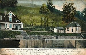 MORGANTOWN WV – Government Lock in River South End – udb (pre 1908)