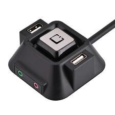Desktop PC case Switch Dual USB Port Power Reset button LED lights Audio port