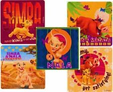 5 X Square Stickers Lion King Timon Pumbaa Simba Nala Jungle Party Favours