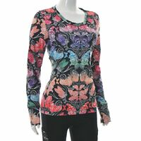 Odd molly Mujer Informal Mariposa Camisa Estampada Camiseta de Manga Larga