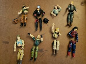 Vintage GI Joes Parts Indian Cobra Silver Face Army Specialists