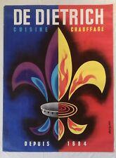 Ancienne affiche publicitaire Chauffage & Cuisine DE DIETRICH  -  Alain Gauthier