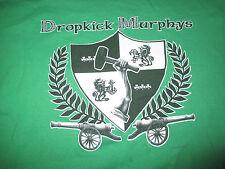 Dropkick Murphys Shield with Cannons (Xl) T-Shirt Green