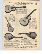 1929 PAPER AD Sterling Superior Guitars Tenor Jumbo 6 String Mandolin Violins
