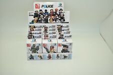 Sluban Police Line ( Robbers/Cops) 12/ Minifigures Complete Box M38 B0586 12/Ea
