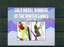 Liberia 2014 MNH Gold Medal Winners Winter Games 2v S/S Olympics Skiing Kushnir
