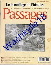 Passages n°78 du 17/1996 Négationisme Garaudy Abbé Pierre Goldhagen Topor
