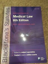 New Medical Law 8th Edition Statute Book