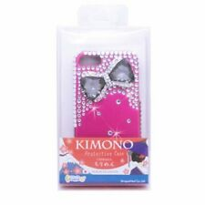 Aimo Wireless 3D Stylish Diamond Bling Case for iPhone 5 Hot Pink Bow Tie