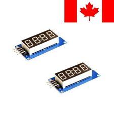 2 Pack - 4 Digit 7 Segment Clock Common Anode Display TM1637 for Arduino CANADA