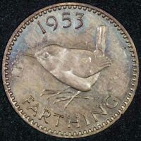 1953 Elizabeth II Farthing (PROOF) AFDC Ref 10