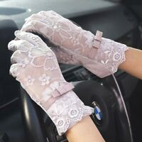 Sexy Lace Floral Gloves Anti-UV Sunscreen Bridal Wedding Party Finger Mittens