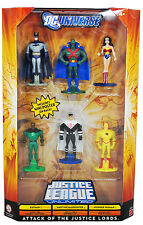 DC UNIVERSE ATTACK OF THE JUSTICE LORDS 6-PACK BATMAN WONDER WOMAN THE FLASH +