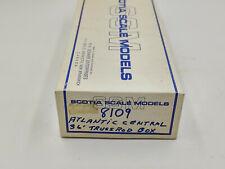 Scotia Scale Models 8109 Atlantic Central 36' Truss Rod Box Car ~ HO NOS Kit