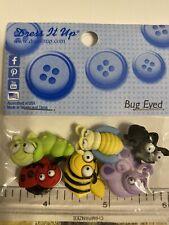 bugs, butterflies and fairies buttons