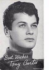 TONY CURTIS Famous Actor Portrait Arcade Card Vintage Postcard ca 1950s