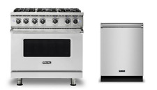 Viking 36in Dual Fuel Range with 6 Burners & FREE Dishwasher  - VDR5366BSS