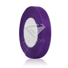 "50 Yards 1/8""3mm Sheer Organza Ribbon Craft Bows Wedding Decoration Purple SF"