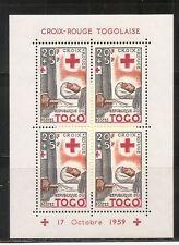 Togo SC # B12 Togolaise Red Cross. Souvenir sheet. MNH